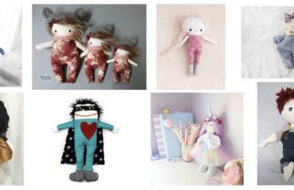 15 poupées de chiffon fabriquées avec amour au Québec