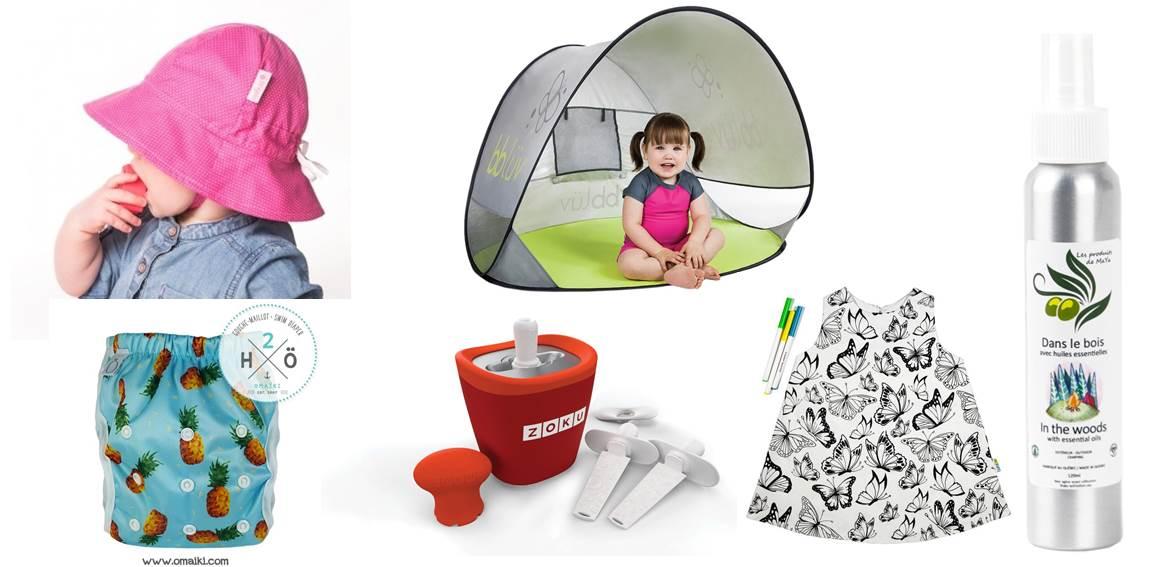 Les essentiels pour profiter de l'été avec bébés et enfants