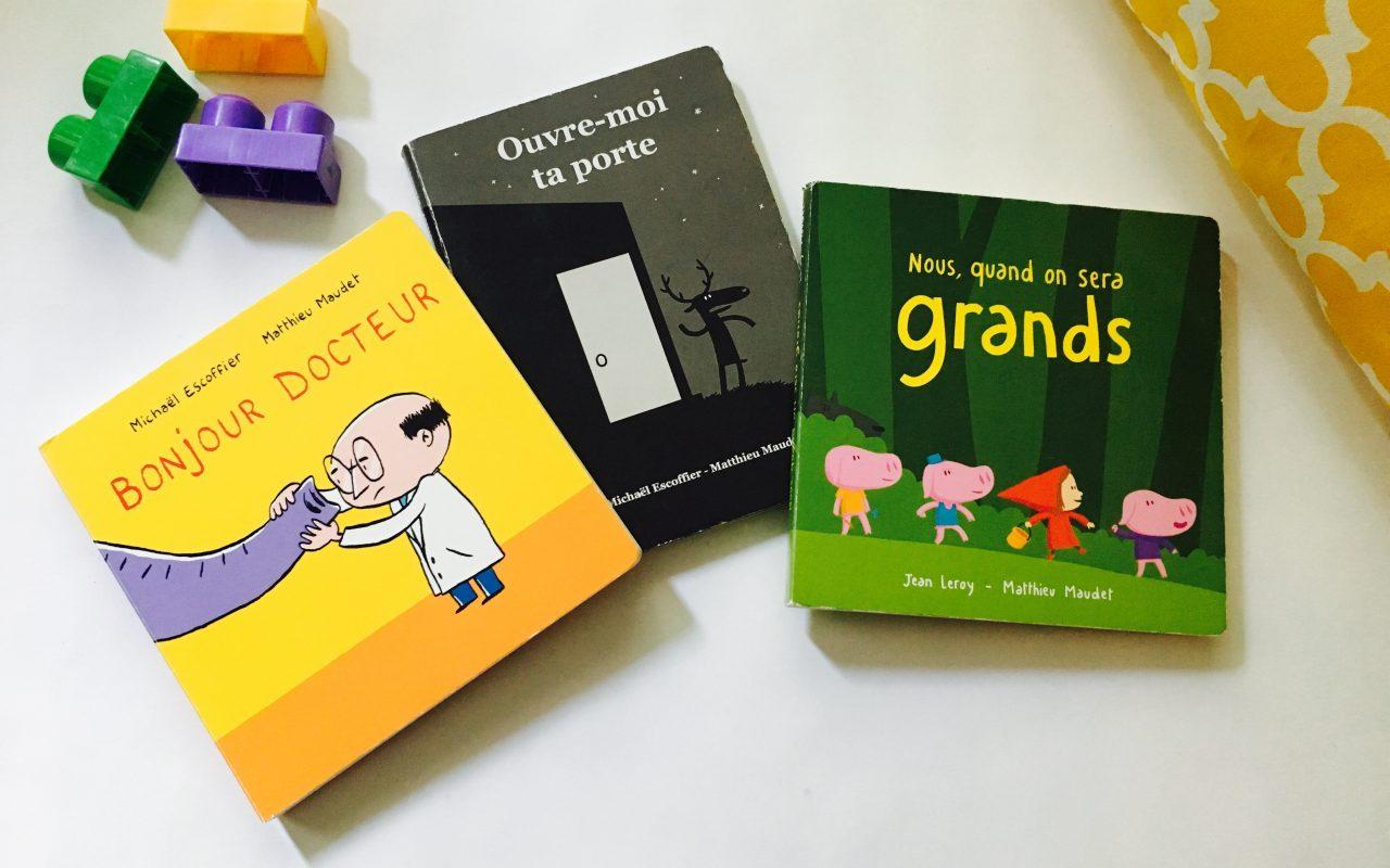 3 livres pour les petits loups Ahou!