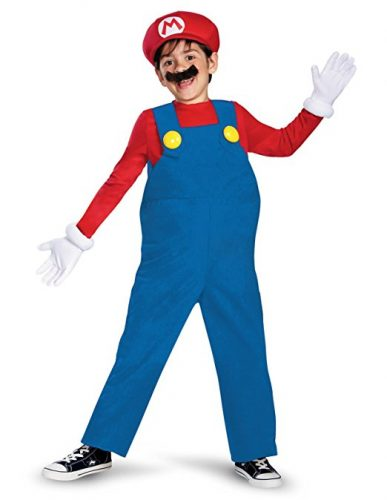 halloween costume deguisement mario bros luigi 1