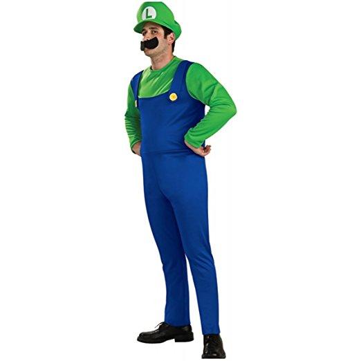 halloween costume deguisement mario bros luigi 2