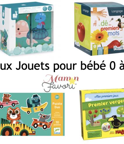 «LE» Guide cadeaux jouets pour bébé 0-2 ans 2020