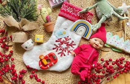 bas de noel cadeaux enfant bébé noel